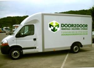 Collection van for storage in Harpenden